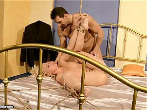 super-hot Kathia Nobili gets her cunny filled with beef whistle