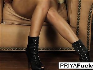 Priya sates her hunger with a plaything