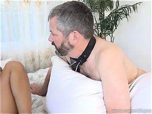Holly Hendrix Cuckolds hubby and Makes Him eat jizm