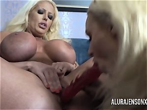 Alura and her huge-chested lezzie friend Dolly get insane