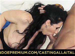 casting ALLA ITALIANA brown-haired nympho raunchy ass-fuck fuck-fest