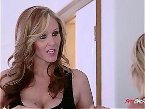 Stepmom makes daughter slurp her pussy