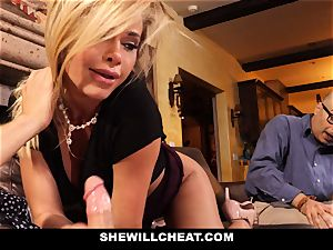 cheating spouse watches Wifes fuckbox Get destroyed