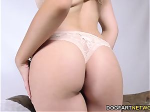 Melissa Moore takes big black cock point of view style