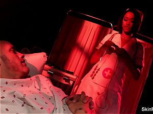 Nurse skin gets anally romped by her patient