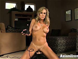 Brandi love rides the sybian saddle bare