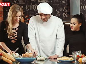 LETSDOEIT - fuck-fest Cooking With honeys Apolonia and Angel