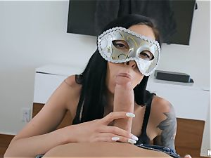 stunners Marley Brinx and Molly Mae masked pounding and throating
