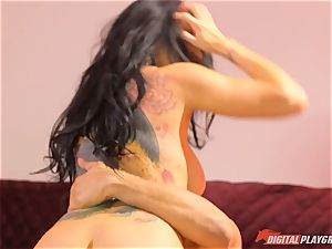 Romi Rain gets her fuckbox bashed in the backside by masked stud