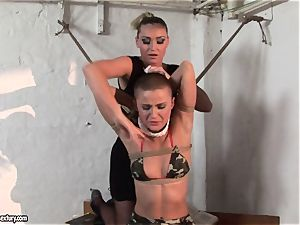 Kathia Nobili and C J babe roping of hands