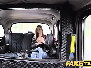 faux taxi slender ginger-haired likes raunchy fuck-a-thon