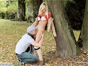 wild intercourse in the forest sans unwrapping
