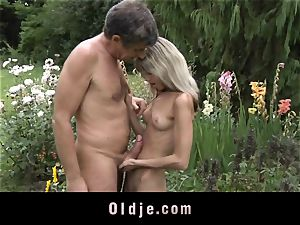 Gina Gerson gets anal from an old guy