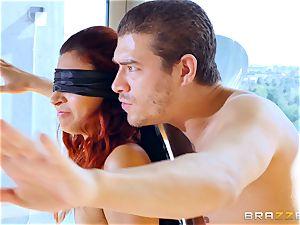 blindfolded double penetration for Jade Jantzen