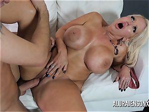 huge hooter cougar Alura Jenson luvs plumbing junior guys