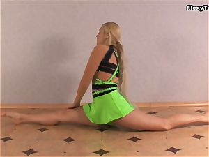 ash-blonde performer of gymnastics