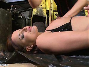 Andy dark-skinned and Kathia Nobili backside dildoing rock hard