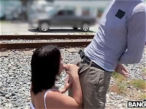 Adriana Chechik - Public ass-fucked and spurting under city bridge