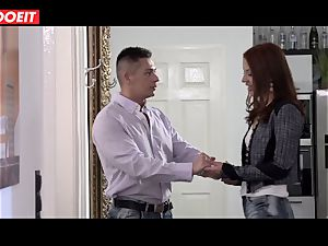 red-haired pounded gonzo by her sugar daddy in fresh house