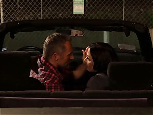 Last chance Sn two Rachel Starr banged over car hood