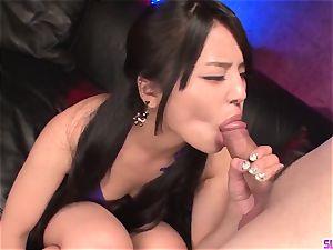 Eririka Katagiri incredible blow-job until the last spurt