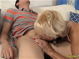 grandmother Mandy McGraw seduces stud