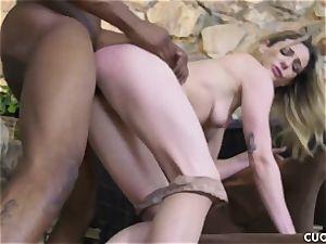 black boy bangs his chief bitchy wife Dahlia Sky