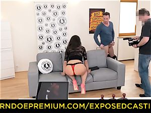 unveiled casting - mind-blowing brown-haired has gonzo buttfuck intercourse