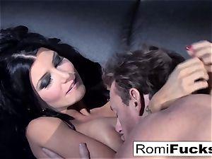 wonderful taunt followed by rigid orgy with Romi Rain