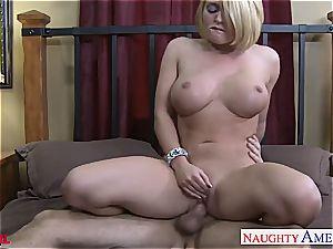 big-boobed blond Krissy Lynn romping