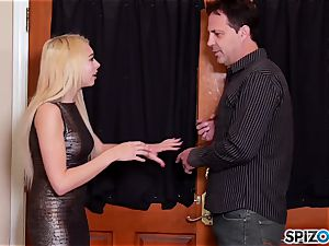 see Mr Eric lick Zoe Clarks appetizing little tight vagina