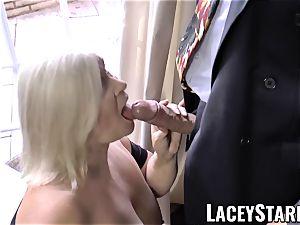 LACEYSTARR - horniest grandma analled before jizz flow