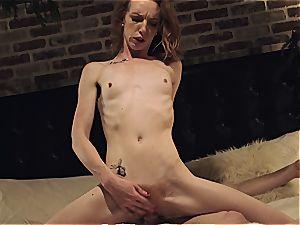 Katy kiss gets her bony body destroyed