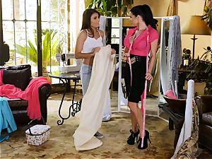 Adria Rae seduced by fabulous seamstress Veronica Avluv