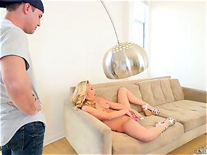 crazy cougar Cherie DeVille tries to taste her son's phat man sausage