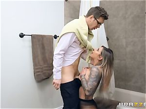 Karma RX packed in her humid vulva