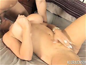 Lusty blondie hottie Alura Jenson snatch thrashed by the gardener