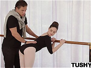 TUSHY young Ballerina probes ass-fuck fuck-a-thon with instructor