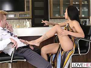 LoveHerFeet - Sneaky cuckold foot intercourse With The Realtor