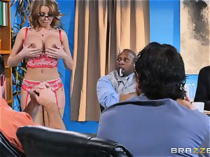 Britney Amber getting gang torn up