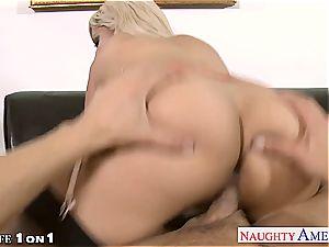 ash-blonde housewife Bridgette B. gets humped in pov
