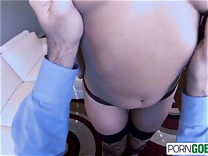 PornGoesPro - Annika Albrite fuck and inhale a large knob