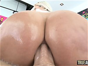 TRUE anal magnificent Nina Elle bum plumbed and creampied