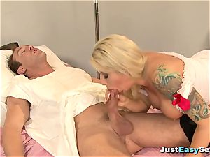 wild light-haired Nurse loves penetrating Her Patient