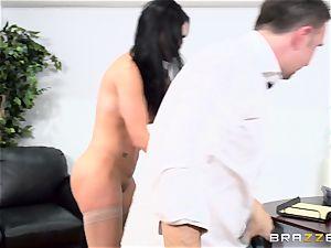 salami gagging brit honey Jasmine Jae plumbed in her rump