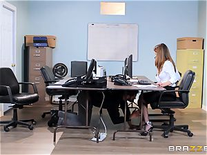 filthy office stunner Dillion Harper gets shafted at work