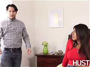 supah red-hot stepsis Ella Knox leaned over and drilled rock hard
