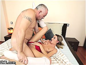 Ballerina Anna Thorne gets a portion of the grandfather shaft