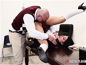 kinky student is worth to be disciplined for her misbehavior