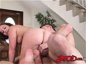 Maddy O'Reilly stretched and plowed